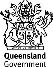 qld crest on top 2linestacked b w 1